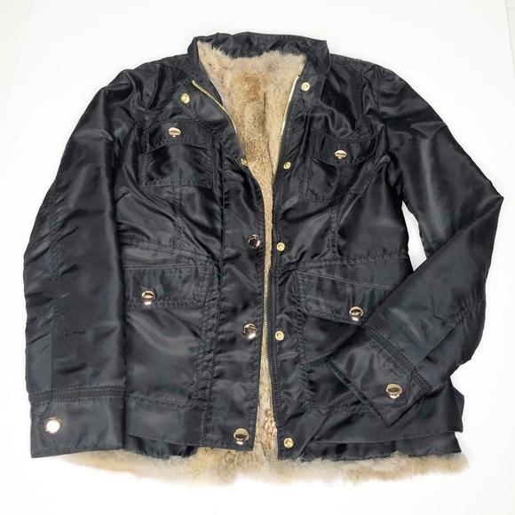 Tory Burch Jackets & Blazers - Tory Burch Black Rabbit Fur Lined Jacket 0